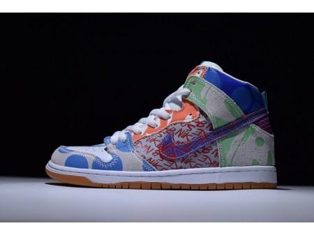 "Nike SB What The Dunk High ""Graffiti"" Iced Jade 918321-381 para homens e mulheres"