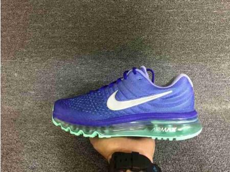 Nike Air Max 2017 Concord Violeta Azul/Verde 849560-402 para Mulheres
