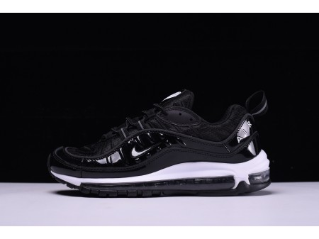 "Nike Air Max 98 ""preto branco"" 640744-010 para homens e mulheres"
