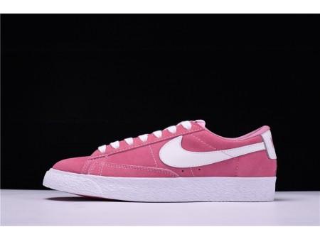 Nike Blazer Low Suede Rosa Branco 488060-081 para Mulheres