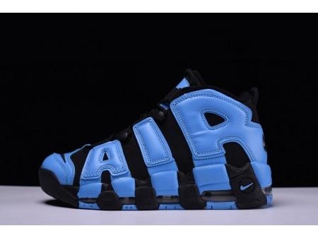 """Nike Air More Uptempo AIR """"preto azul"""" 921948-040 para homens e mulheres"""