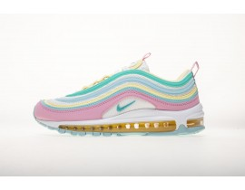 """Nike Air Max 97 GS """"Easter Egg"""" Roze Wit Geel Groen 921826 016 Dames"""