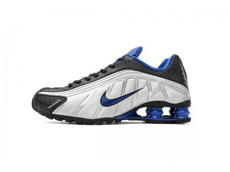 Nike Shox R4 Zwart Racer Blauw 104265-047 Heren