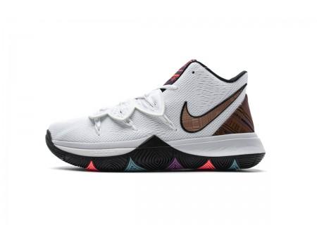 Nike Kyrie 5 BHM Zwart History Month Wit/Mtlc Rood Brons BQ6237 100 Heren