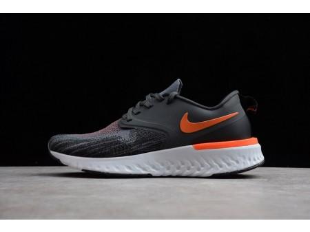 Nike Odyssey React 2 Flyknit Zwart Grijs Oranje AH1015-403 voor heren