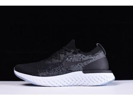Nike Epic React Flyknit Zwart/Grijs AQ0067-001 voor heren en dames