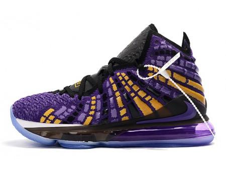 Nike LeBron 17 Zwart/Paars-Geel Heren Dames
