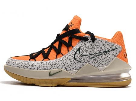 Nike LeBron 17 Low 'Safari' Kumquat/Zwart Heren