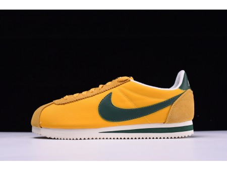 Nike Classic Cortez Oxford Nylon Oregon geel groen 876873-700 voor heren en dames