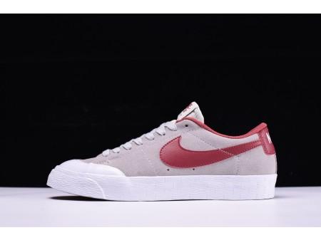 """Nike SB Blazer Low XT """"Light Grijs Wine Rood"""" voor heren en dames"""