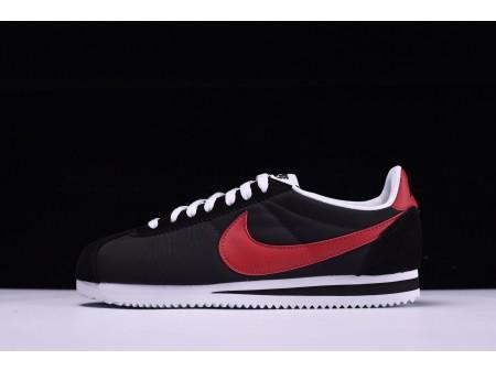 Nike Classic Cortez Oxfordstof Zwart/Rood-Wit 488291-001 voor heren en dames