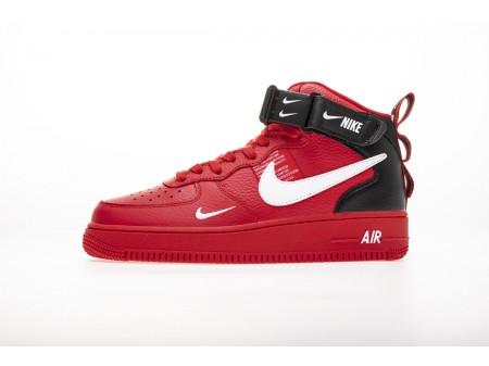 Nike Air Force 1 MID 07 LV8 University Rosso Bianco Nero 804609 605 Uomo Donna