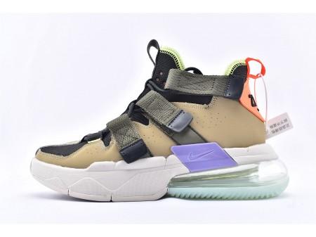 Scarpe da pallacanestro Nike Air Edge 270 High Parachute Beige Nere Marroni AQ8764-200 Uomo e Donna