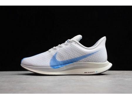 Nike Zoom Pegasus 35 Turbo Bianco Blu Hero-Vast Grigio AJ4114-140 Uomo