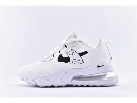 Nike Air Max 270 React x RipNDip Lord Nermal Bianco AQ9087-101 Donna