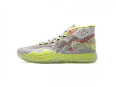 Nike Zoom KD12 EP Grigio Verde/Multicolore Argento metallizzato AR4230-900 Uomo