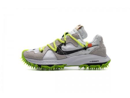 Off White X Nike Zoom Terra Kiger 5 OW Bianco CD8179-100 Uomo Donna