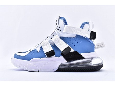 Scarpe da pallacanestro Nike Air Edge 270 High Bianco Blu AQ8764-400 Uomo e Donna