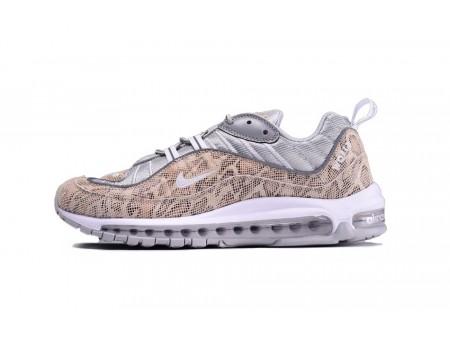 Supreme X Nike Air Max 98 pelle di serpente 844694-100 per uomo