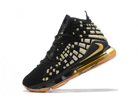 Nike LeBron 17 XVII EP Nero/Oro-Gum Uomo