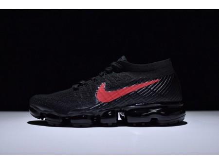 Nike Air Vapormax Flyknit Nero & University Rosso 849558-006 da uomo e da donna