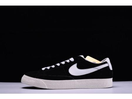 Nike Blazer Low Retro bianco e nero 488060-001 per uomo e donna