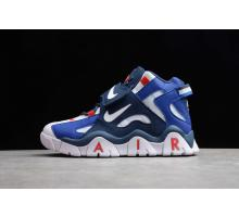 Nike Air Barrage Mid QS Blanc Rouge DK Bleu CD9329-005 Hommes et Femmes