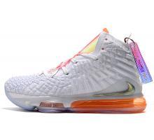 Nike LeBron 17 'Future Air' Blanco/Naranja CT3843-100 Hombre Mujer