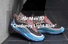 air max 97 corduroy light blue